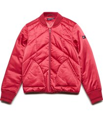 essential quilted pa bomberjack rood tommy hilfiger