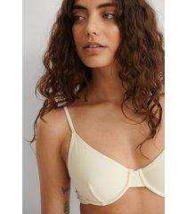 na-kd swimwear recycled bikini-bh - offwhite