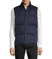 cotton-blend puffer vest