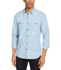 lucky brand men's jaybird regular-fit chambray work shirt
