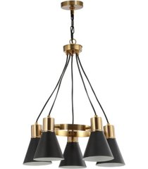 "jonathan y markle 22"" 5-light led pendant"