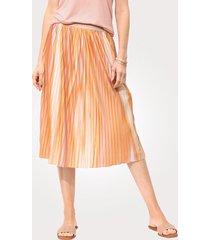plisserad kjol mona ockragul::rosa::champagne