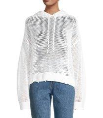 rta women's marvin mesh hoodie - white mesh - size xxs
