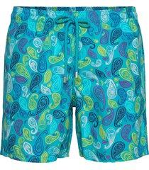 men swimwear ocean paisley multicolore zwemshorts blauw vilebrequin