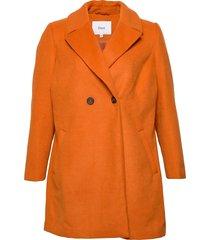 mfame, l/s, coat ulljacka jacka orange zizzi