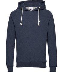 elm small owl hoodie sweat - gots/v hoodie trui blauw knowledge cotton apparel