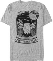 star wars men's classic forest moon of endor ewok terrarium short sleeve t-shirt