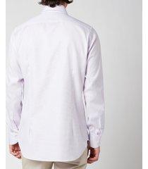 canali men's waffle weave cotton shirt - lilac - it 39/m