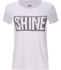 camiseta lentejulas shine color blanco, talla l