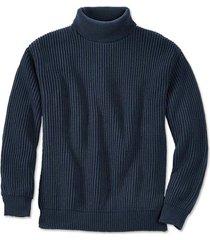 cotton submariner's sweater, navy, medium