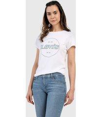 camiseta blanco-verde-azul levis