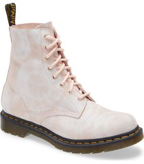 women's dr. martens 1460 pascal tie dye boot, size 5us/ 3uk - pink