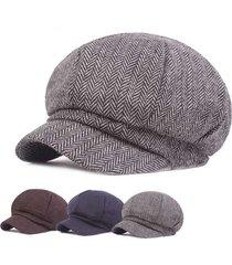 cappello regolabile per berretti da donna vintage in cotone regolabile cappellino caldo per berretto confortevole cappello cabbie piatto cappello ottagonale