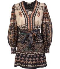etro short jacquard dress with carpet pattern