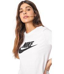 camiseta nike sportswear tee essntl icon futura branca - kanui