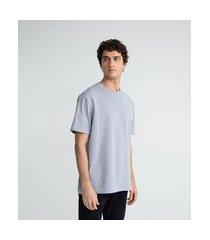 camiseta manga curta easyfit | blue steel | cinza médio | m