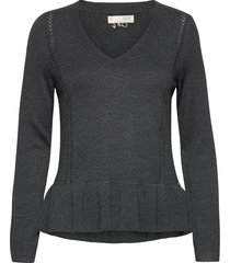 aurora sweater gebreide trui grijs odd molly