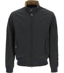 barbour harrington bomber jacket in lightweight waxed cotton