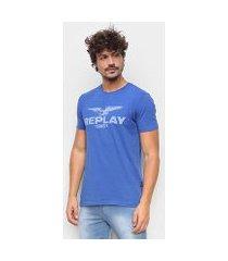camiseta replay 1981 básica masculina
