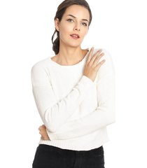 sweater wados solid crudo - calce holgado