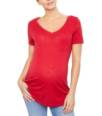 splendid maternity cotton v-neck t-shirt