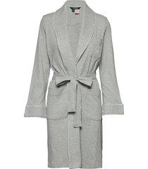 lrl essential quilted collar robe morgonrock grå lauren ralph lauren homewear