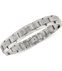 men's diamond link bracelet (1 ct. t.w.) in titanium