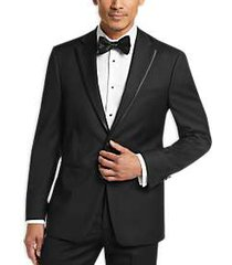 calvin klein x-fit black slim fit suit separates formal coat
