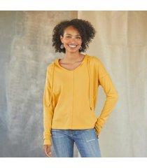 sundance catalog women's elyss hoodie in sumrsolstc xs