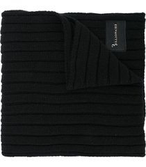 billionaire ribbed knit scarf - black