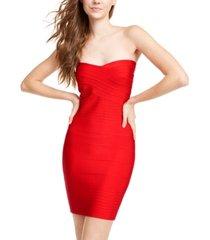 bebe strapless bodycon dress