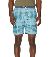 7 diamonds core active stone print shorts, size xx-large in stone teal at nordstrom