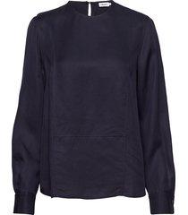 fen blouse blouse lange mouwen blauw filippa k