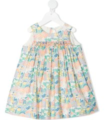 bonpoint all-over print dress - blue