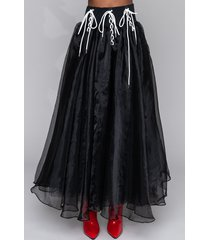 akira matrix lace up tulle skirt