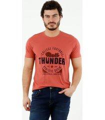 camiseta de hombre, cuello redondo, manga corta, con estampado thunder