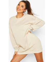 the basic mix & match oversized sweat dress, sand