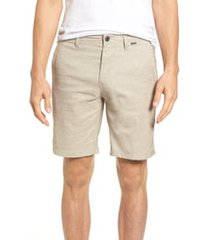 men's hurley dri-fit shorts, size 38 - beige