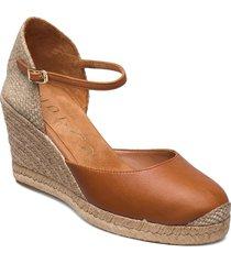 castilla_21_cre sandalette med klack espadrilles brun unisa