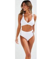 hunkemöller duran djärv bikiniunderdel med långa ben vit