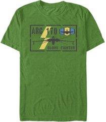 fifth sun men's clone fight stencil short sleeve crew t-shirt