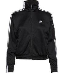 tracktop sweat-shirt tröja svart adidas originals