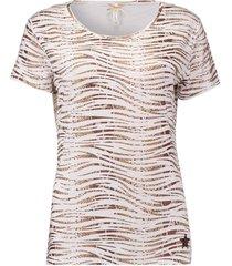 t-shirt dierenprint bruin