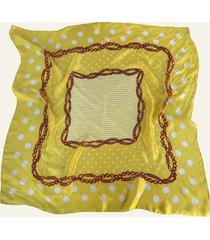 pañuelo amarillo nuevas historias cadenas y lunares ba536-31