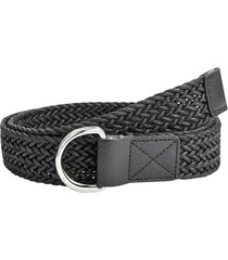 double ring braided dress belt