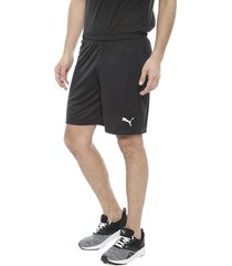 short puma liga core negro - calce regular