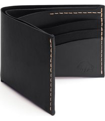 ezra arthur no. 8 leather wallet in jet top stitch at nordstrom