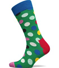 big dot sock underwear socks regular socks grön happy socks