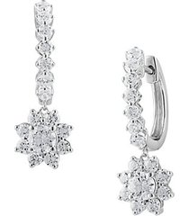 14k white gold & 1.35 tcw lab-grown star huggie-drop earrings