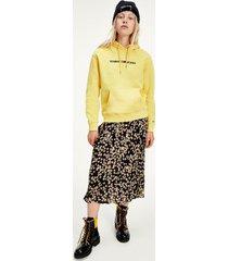 tommy hilfiger women's printed midi skirt floral print - l